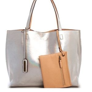 Silver Holographic Tote NWT